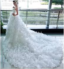 wedding dresses fluffy beautiful fashion models big fluffy taill wedding