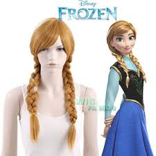 anna from frozen hairstyle frozen anna long curly brown with blonde movie cosplay hair wig ebay