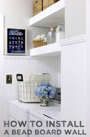 How To Decorate Floating Shelves How To Install Bead Board