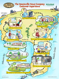 Worlds Of Fun Map by The Dennisville Fence Customer Experience Illustrated Map