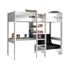 lit mezzanine canapé lit mezzanine lena avec canapé lit blanc acheter en ligne emob