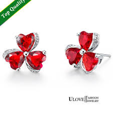 brinco zirconia 2018 earrings brincos bijuterias clover stud vintage earring for