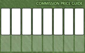 commission price guide template by faithleafcat on deviantart