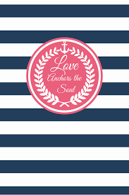 Love Anchors The Soulnautical Anchor - pink wreath navy white stripes love anchors soul iphone wallpaper