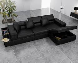 Leather Sofa Bed With Storage Amazing Leather Sofa Bed Sectional Canada Mjob Regarding