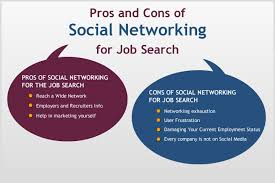 Social Media Job Resume by Pros And Cons Of Social Networking For Job Search Jobcluster Com