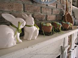 easter mantel decorations mantel easter mantel cottage in the oaks easter mantel