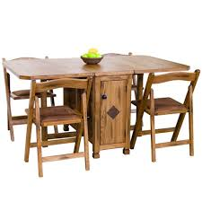 Oak Drop Leaf Dining Table Drop Leaf Dining Table With Folding Chairs Finelymade Furniture