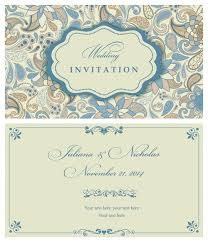 wedding invitations vector light color floral wedding invitations vector 02 vector card