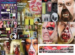 zombie halloween makeup kits halloween make up zombie devil werewolf all in one family horror