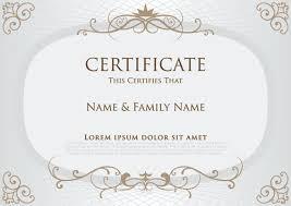elegant certificate template vector design 03 v pinterest