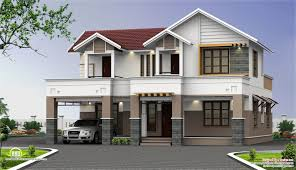 floors square feet sq two storey house elevation kerala home