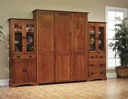 Sliding Bookcase Murphy Bed Amish Murphy Bed Dutchcrafters Bedroom Furniture