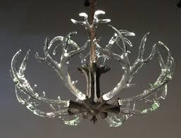Faux Crystal Chandeliers The Crystal Antler Chandelier From Lawson Glass Lighting U0026 Lamps