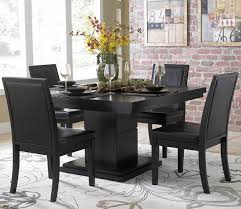 homelegance cicero square pedestal dining table in black beyond