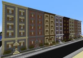 brownstone rowhouses minecraft project