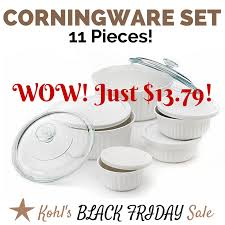 best black friday deals for cookware set kohl u0027s black friday deal 11 piece corningware set for just 13 79