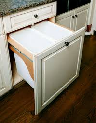 built in trash can cabinet garbage drawer our dream home pinterest drawers