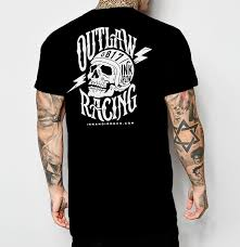 tattoo clothing outlaw racing mens t shirt ink and iron co