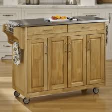 kitchen islands stainless steel top august grove regiene kitchen island with stainless steel top