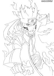 8 images of naruto kurama mode coloring pages naruto bijuu mode