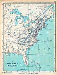North America On Map by Of The North American Colonies