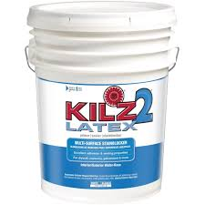 home depot 5 gallon interior paint kilz 2 5 gal white water based multi surface interior