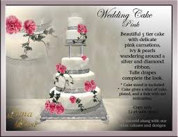 second life marketplace wedding cake pink carnation