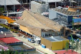 tetto padiglione expo padiglioni una copertura ondulata per la cina abitare