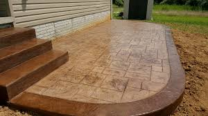 Flagstone Stamped Concrete Pictures by Adding A Contrasting Border To Stamped Concrete Blackwater