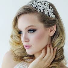 wedding hair bands vintage pearl and diamante hair band