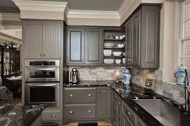 modern minimalist kitchen decor with charcoal gray painted kitchen