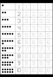 tracing numbers worksheet worksheets