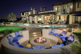 fire pit with seating california smartscapesantaluz cobalt accented outdoor living
