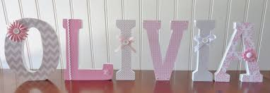 Decorated Letters For Nursery Decorative Wooden Letters Fascinating Wood Letter Wall Decor For
