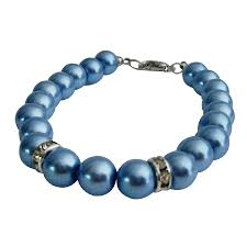 wedding gift jewelry gift jewelry collection blue pearls bracelet bridesmaid gift
