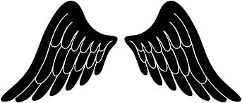 free silhouette images black silhouette angel wings free clip art clipartix