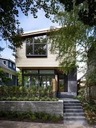 Glass Front House Portland House Siding Options Exterior Midcentury With