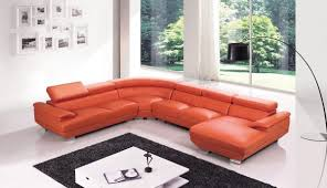 red leather four pieces extra large modern sectional sofa north