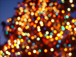 twinkling lights abstract blurred bokeh
