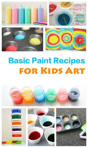 66 homemade paint recipes for children u0027s art and craft emma owl