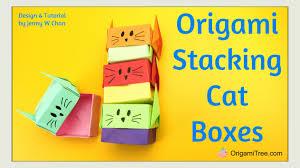 paper crafts origami cat box origami cat u0026 origami box