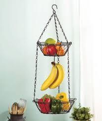 metal fruit basket three tier hanging wire basket world market home