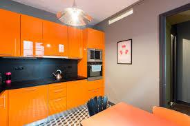 cuisine orange et gris cuisine orange et gris fabulous design deco chambre orange et avec