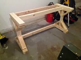 Computer Desk Woodworking Plans Furniture How To Build A Desk From Scratch Do It Yourself White