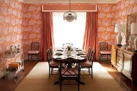 Pink And Orange Curtains Orange Curtains Eclectic Dining Room Diane Bergeron Interiors