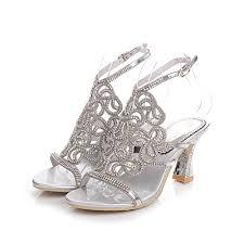 wedding shoes jeweled heels geminigirl womens rhinestone sandals with chunky heels wedding