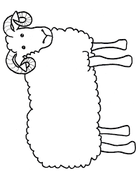 printable sheep template jos gandos coloring pages for kids