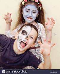 Halloween Face Paint Skeleton by Zombie Apocalypse Kids Concept Halloween Party Celebration