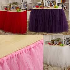 Table Skirts 2017 2015 Tutu Table Skirt For Party Birthday Wedding 91 5 Cm
